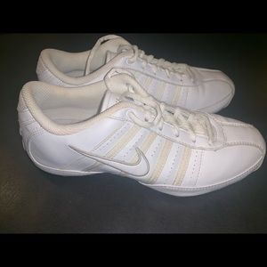 White Nike size 6 cheer shoes